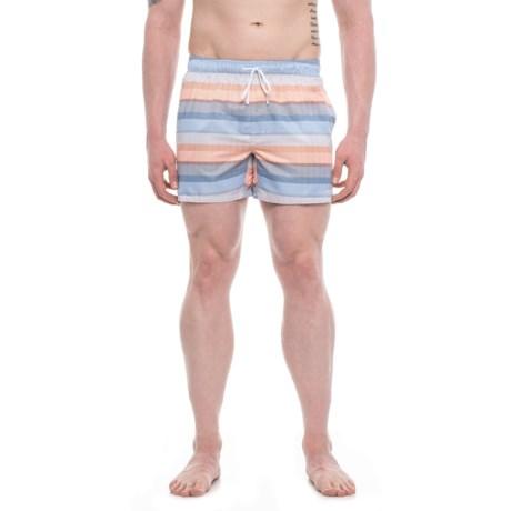 2(x)ist Malibu Puffins Bill Swim Trunks - Built-In Briefs (For Men) in Blue Multi