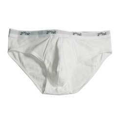 2(x)Ist No Show Brief (For Men) in White