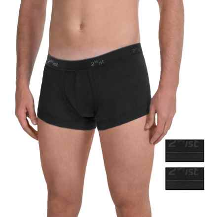 2(x)ist No-Show Trunks - Boxer Briefs, 3-Pack (For Men) in Black - Closeouts