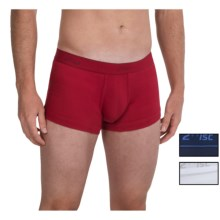 2(x)ist No-Show Trunks - Boxer Briefs, 3-Pack (For Men) in White/Black/Race Car Red - Closeouts