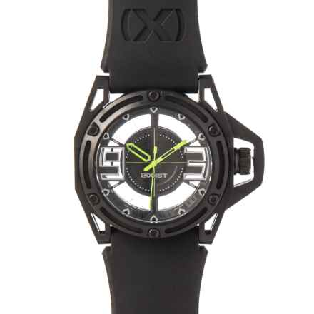 2(x)ist NYC Collection Stainless Steel Watch - Silicone Strap in Jet Black/Toxic Green - Closeouts