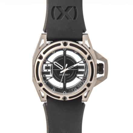 2(x)ist NYC Collection Stainless Steel Watch - Silicone Strap in Titanium/Black/White - Closeouts