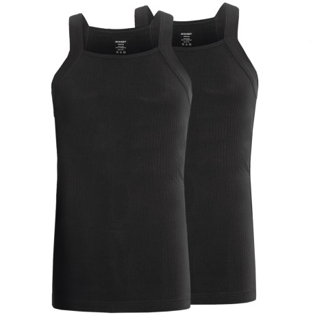 2(x)ist Ribbed Square Cut Tank Tops 2 Pack (For Men)