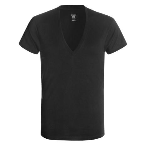 2(x)ist Slim Fit Pima Cotton T Shirt Deep V Neck, Short Sleeve (For Men)