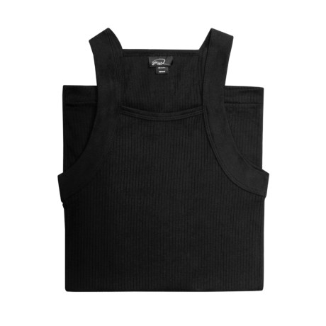 2(x)ist Square Cut Tank - Cotton (For Men) in Black