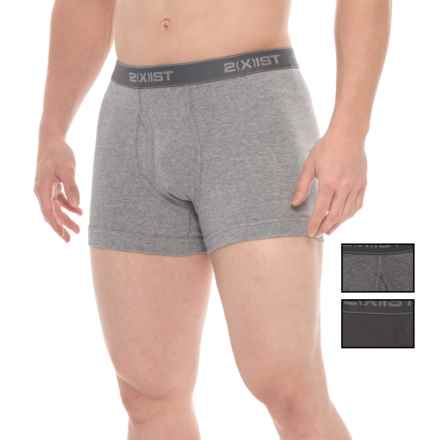 2(x)ist Stretch Cotton Boxer Briefs - 3-Pack (For Men) in Black/Grey Heather/Charcoal - Closeouts