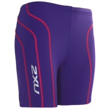 2XU Active Tri Shorts - UPF 50+ (For Women) in Deep Purple/Blister Pink - Closeouts