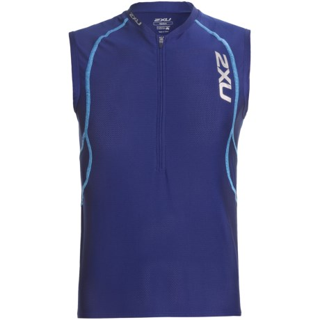 2XU Active Tri Singlet Top (For Men) in Marine Blue/Cloud Blue