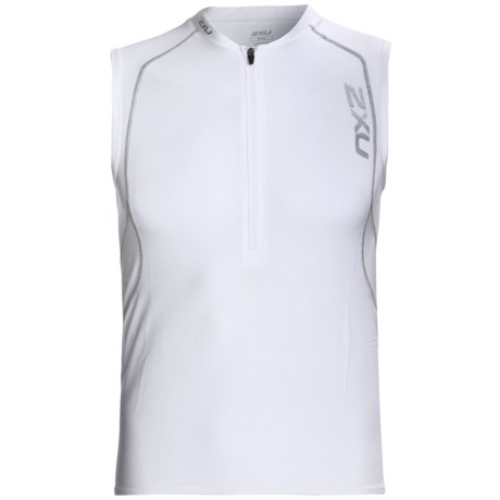 2XU Active Tri Singlet Top (For Men) in White