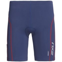 2XU Comp Tri Shorts (For Men) in Indigo/Venere Red