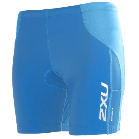 2XU Comp Tri Shorts (For Women) in Cornflower Blue/Coastal Blue