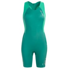 2XU Comp Tri Suit (For Women) in Bright Emerald/Aquamarine - Closeouts