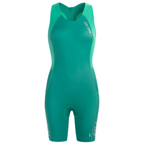 2XU Comp Tri Suit (For Women) in Bright Emerald/Aquamarine