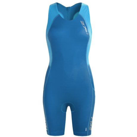 2XU Comp Tri Suit (For Women) in Cornflower Blue/Coastal Blue