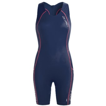 2XU Comp Tri Suit (For Women) in Indigo/Blister Pink