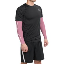 2XU Compression Arm Sleeves (For Men and Women) in Pink/Pink - Closeouts