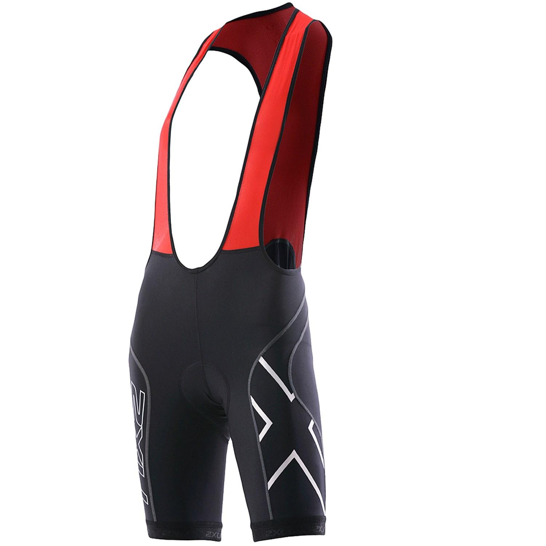2XU Compression Cycling Bib Shorts - UPF 50+ (For Women) in Black/Red