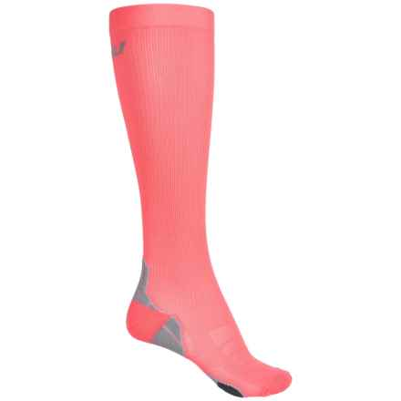 2XU Compression Socks for Recovery - Over the Calf (For Women) in Candy Pink/Grey - Closeouts