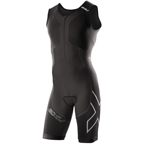 2XU Compression Tri Suit (For Men) in Black/Black