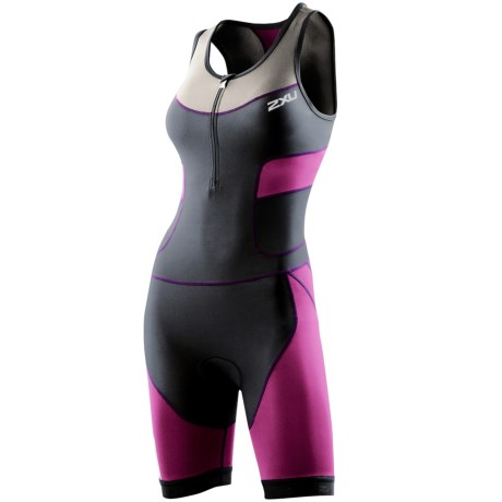 2XU Compression Tri Suit (For Women) in Charcoal/Ultra Violet