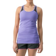 2XU Essential Racer Tank Top - UPF 50+ (For Women) in Amethyst/Charcoal - Closeouts