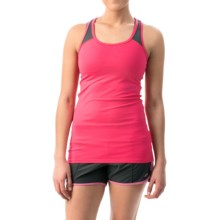 2XU Essential Racer Tank Top - UPF 50+ (For Women) in Coral Paradise/Charcoal - Closeouts