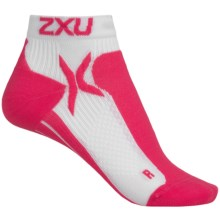2XU High-Performance Low-Rise Socks (For Women) in White/Supernova - Closeouts
