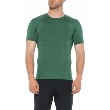 68354a63 2XU LKRM Game Day Compression Shirt - Short Sleeve (For Men) in Bottle Green