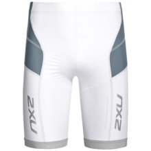 2XU Long Distance Tri Shorts (For Men) in White/Steel - Closeouts