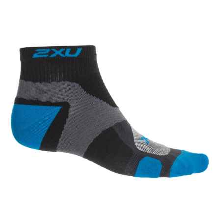 2XU Vectr Training Socks - Below the Ankle (For Men) in Black/Vibrant Blue - Closeouts