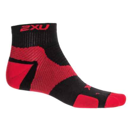2XU Vectr Training Socks - Below the Ankle (For Men) in Flame Scarlet/Black - Closeouts
