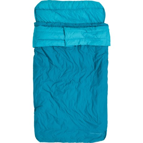 30°F KSB Double Down Sleeping Bag - Rectangle, 650 Fill Power - TEAL ( )
