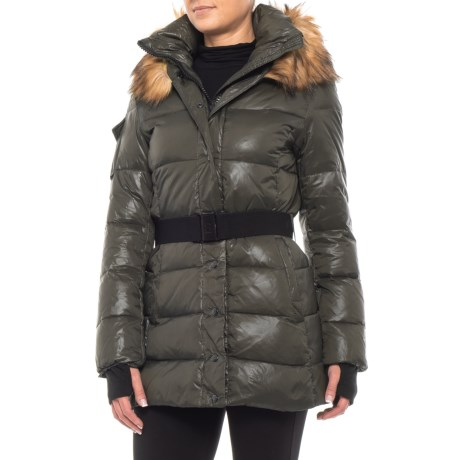 Image of 30? Matte Down Jacket - Faux-Fur-Trimmed Hood (For Women)