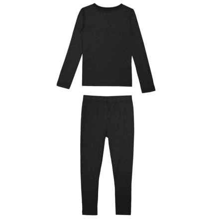 32 Degrees Base Layer Set - Long Sleeve (For Kids) in Black - Closeouts