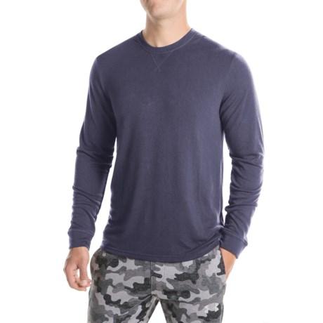 32 Degrees Brushed Heat Sweatshirt (For Men) in Heather Navy