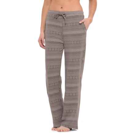 32 Degrees Brushed Lounge Pants (For Women) in Dark Grey/Fairisle - Closeouts