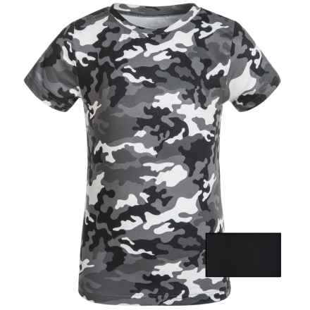 32 Degrees Cool Base Layer Top - 2-Pack, Short Sleeve (For Kids) in Grey Camo/Black - Closeouts