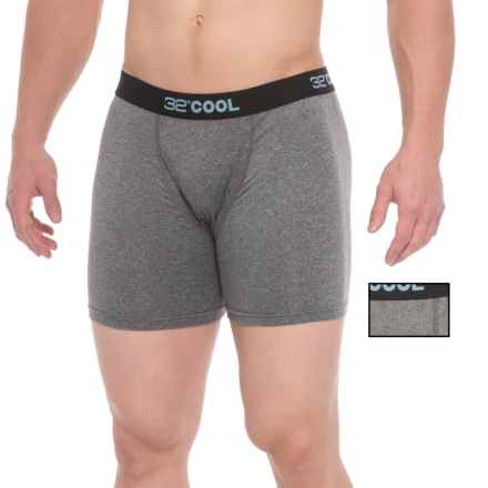 32 Degrees Cool Boxer Briefs - 2-Pack (For Men) in Dark Heather Grey/Heather Grey - Closeouts