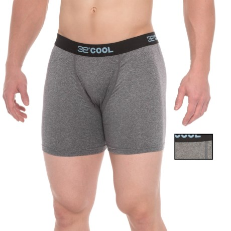 32 Degrees Cool Boxer Briefs - 2-Pack (For Men) in Dark Heather Grey/Heather Grey