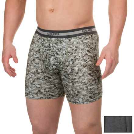 32 Degrees Cool Keep Boxer Briefs - 2-Pack (For Men) in Black Space Dye/Grey Digi Camo - Closeouts