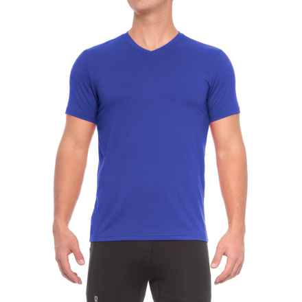 32 Degrees Cool V-Neck T-Shirt - Short Sleeve (For Men) in Blue - Closeouts