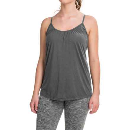 32 Degrees Cotton Camisole - Built-In Bra, Padded Cups (For Women) in Dark Heather Grey - Closeouts