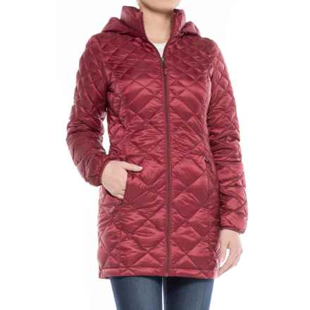 32 Degrees Diamond Quilted Down Coat - 650 Fill Power (For Women) in Fine Wine - Closeouts