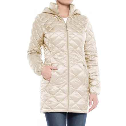 32 Degrees Diamond Quilted Down Coat - 650 Fill Power (For Women) in Snow Cap - Closeouts