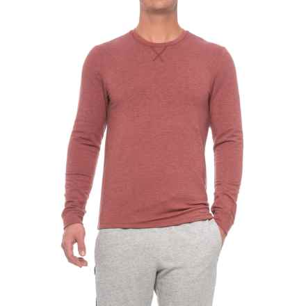 32 Degrees Faux-Cashmere Lounge Shirt - Long Sleeve (For Men) in Heather Wine - Closeouts
