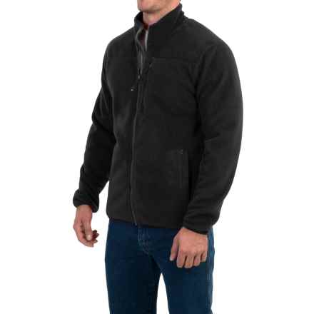 32 Degrees Fleece Jacket - Sherpa Lined, Zip Front (For Men) in Black - Closeouts