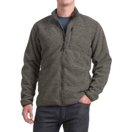 32 Degrees Fleece Jacket - Sherpa Lined, Zip Front (For Men) in Iris Leaf Spacedye - Closeouts