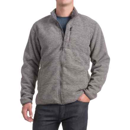 32 Degrees Fleece Jacket - Sherpa Lined, Zip Front (For Men) in Slate Grey Spacedye - Closeouts