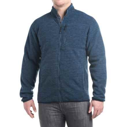32 Degrees Fleece Jacket - Sherpa Lined, Zip Front (For Men) in True Navy Spacedye - Closeouts