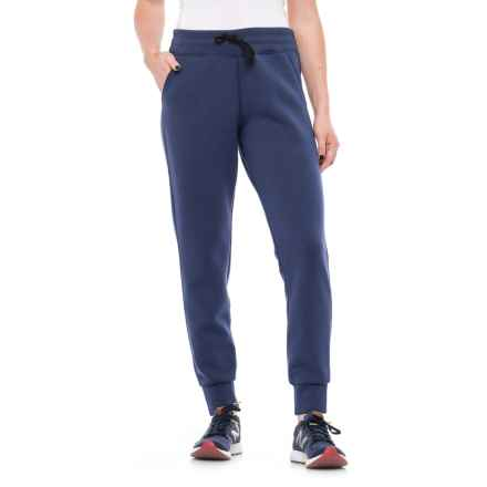 32 Degrees Fleece Tech Joggers (For Women) in Heather Deep Indigo - Closeouts
